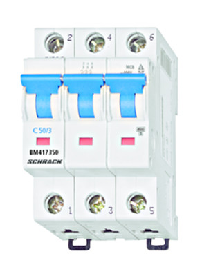Автоматический выключатель BM 4.5кА 3P 50А х-ка C 30 ° С Schrack
