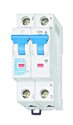Автоматический выключатель BM 4.5кА 1P + N 6А х-ка C 30 ° С Schrack