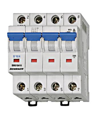 Автоматический выключатель BM 6кА 4P 25A х-ка C 30 ° С Schrack