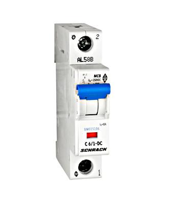 Автоматический выключатель постоянного тока BM 10kA 1P 6A х-ка C Schrack