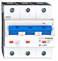 Автоматический выключатель повышенного тока BR 10кА 3P 80А х-ка C Schrack