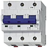 Автоматический выключатель повышенного тока BR 15-25кА 3P 125A х-ка C Schrack