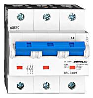 Автоматический выключатель повышенного тока BR 15-25кА 3P 80A х-ка C Schrack