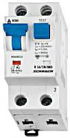 Дифференциальный автоматический выключатель переменного тока 6кА / 30мА 1P + N 16A х-ка B Schrack