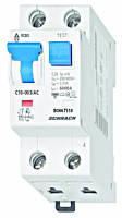 Дифференциальный автоматический выключатель переменного тока 6кА / 30мА 1P + N 10A х-ка C Schrack