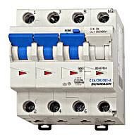 Дифференциальный автоматический выключатель BO 6кА / 30мА 3P + N 16A х-ка C тип A Schrack