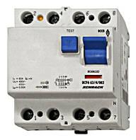 Устройство защитного отключения BC 6кА / 30мА 4P 63А тип AC Schrack
