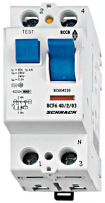Устройство защитного отключения BC 6кА / 300мА 2P 40А тип AC Schrack