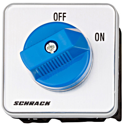 Кулачковый переключатель IN панел.монт. ON / OFF пол. 1Р 20А IP65 (IP40) Schrack
