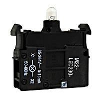 Контактный свiтлодiодний блок 85-264В AC, белый, переднего монтажа, Schrack