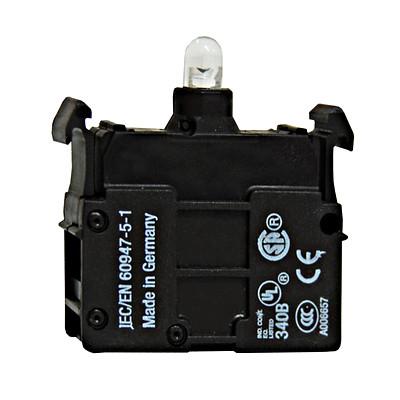 Контактный свiтлодiодний блок 85-264В AC, зеленый, переднего монтажа, Schrack
