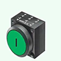 Нажимная кнопка, пружинная, зеленый Schrack