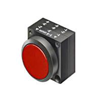 Нажимная кнопка MS с фиксацией, красная, Schrack