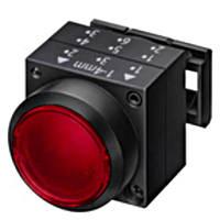 Нажимная кнопка с подсветкой, фиксацией, красная, Schrack