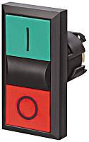 Двойная нажимная кнопка, пружинная, зеленая / красная Schrack
