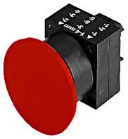 Грибкоподибна нажимная кнопка, пружинная, красная Schrack