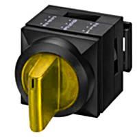 Переключатель трехпозиционный с подсветкой и фиксации, желтый, 2х50 ° Schrack