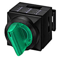 Переключатель двухпозиционного с подсветкой и фиксации 2х50 ° зеленый Schrack