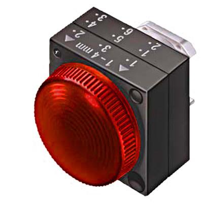 Сигнальная лампа красная ø28 IP65 Schrack
