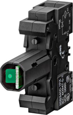 Контактный блок подсветки с зеленым светодиодом 24В / AC / DC Schrack
