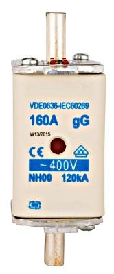 Плавка вставка ISP, тип NH, размер 00, 160A, Schrack