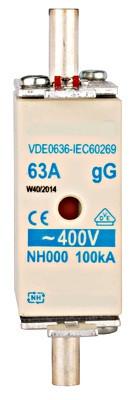 Плавка вставка ISP, тип NH, размер 00, 50A, Schrack