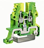 Клемма заземления 2,5мм², тип TEO.2, желто-зеленая