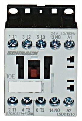 Контактор LSDD 3P 12А 5.5кВт 24В / AC3 1но Schrack