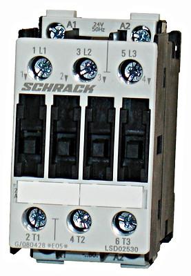 Контактор LSD0 3P 25А 11кВт 24В / AC3 Schrack