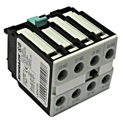 Блок вспомогательных контактов (выключатель) для контакторов 2НВ + 2НЗ, 500В фронт.монтаж Schrack