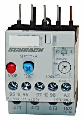 Реле LSTD тепловое 0.45-0.63А Schrack
