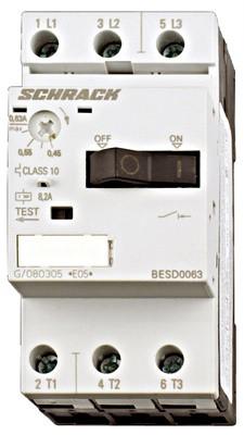 Выключатель электродвигателя BESD, 12А, класс 10, 50кА, 690В Schrack
