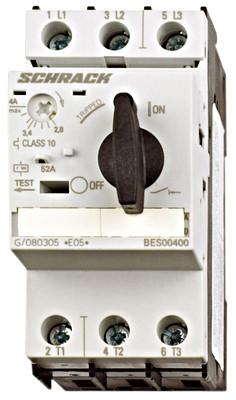 Выключатель электродвигателя BES0, 22 А, класс 10, 50 кА, 690В Schrack