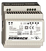 Однофазный источник питания, модульный, 230 / 24VDC, 1,5A Schrack