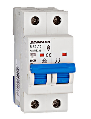 Автоматический выключатель 6кА 2P 32А х-ка B Schrack