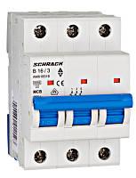 Автоматический выключатель 6кА 3P 16А х-ка B Schrack