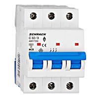 Автоматический выключатель 6кА 3P 32А х-ка C Schrack