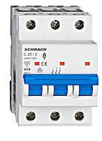 Автоматический выключатель 6кА 3P 20А х-ка C Schrack