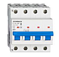 Автоматический выключатель 6кА 3P + N 16А х-ка C Schrack