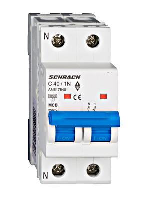 Автоматический выключатель 6кА 1P + N 40А х-ка C Schrack