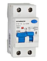 Дифференциальный автоматический выключатель 6кА / 30мА 1P + N 10A х-ка C Тип A Schrack