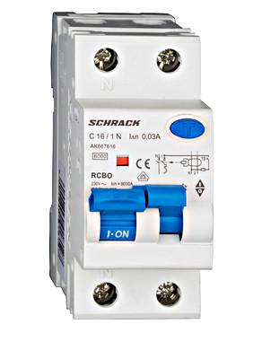 Дифференциальный автоматический выключатель 6кА / 30мА 1P + N 16A х-ка C Тип A Schrack
