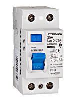 Устройство защитного отключения 10кА / 30мА 2P 25А тип AC Schrack