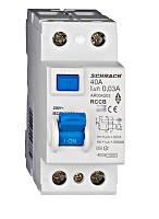 Устройство защитного отключения 10кА / 30мА 2P 40А тип AC Schrack