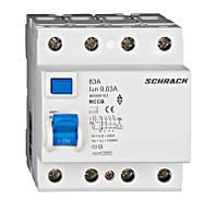 Устройство защитного отключения 10кА / 30мА 4P 63А тип AC Schrack
