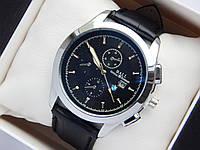 Мужские наручные часы Ball с логотипом BMW, серебристого цвета на черном кожаном ремешке, с датой, фото 1