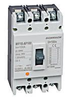 Выключатель в литом корпусе типа автофокуса, 3P, 18kA, 100A Schrack