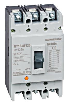 Выключатель в литом корпусе типа автофокуса, 3P, 18kA, 125A Schrack