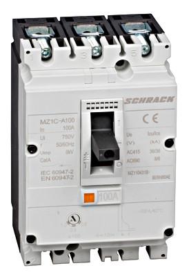 Выключатель в литом корпусе типа А, 3P, 36kA, 100A Schrack