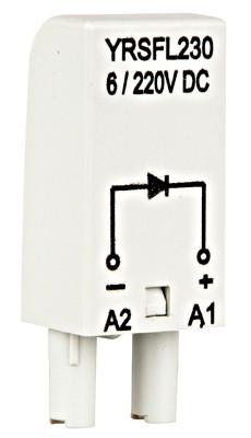Модуль защитного диода 6-230В DC A1 +, Schrack